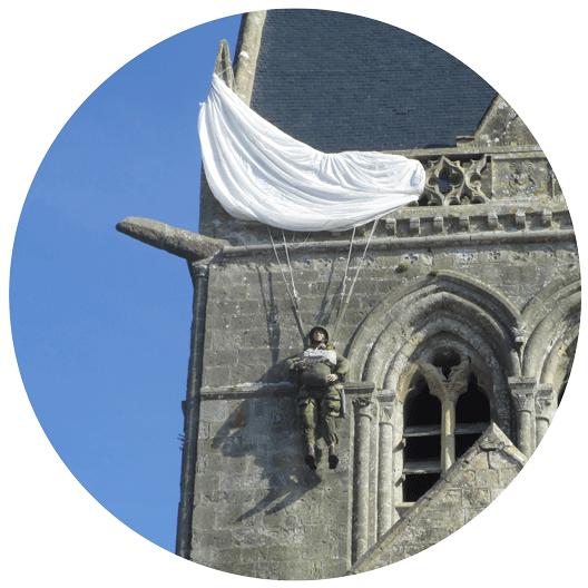 Le parachuste de sainte-Mère-Église